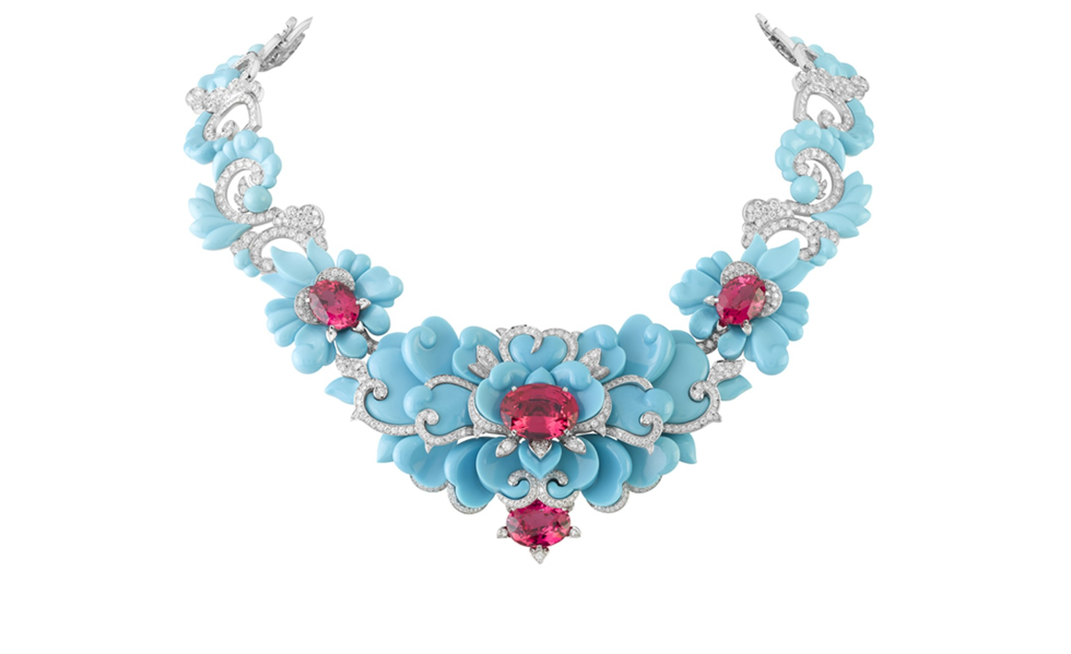 Van Cleef & Arpels, Bals de Légende, Le Bal Oriental, Kingfisher necklace.