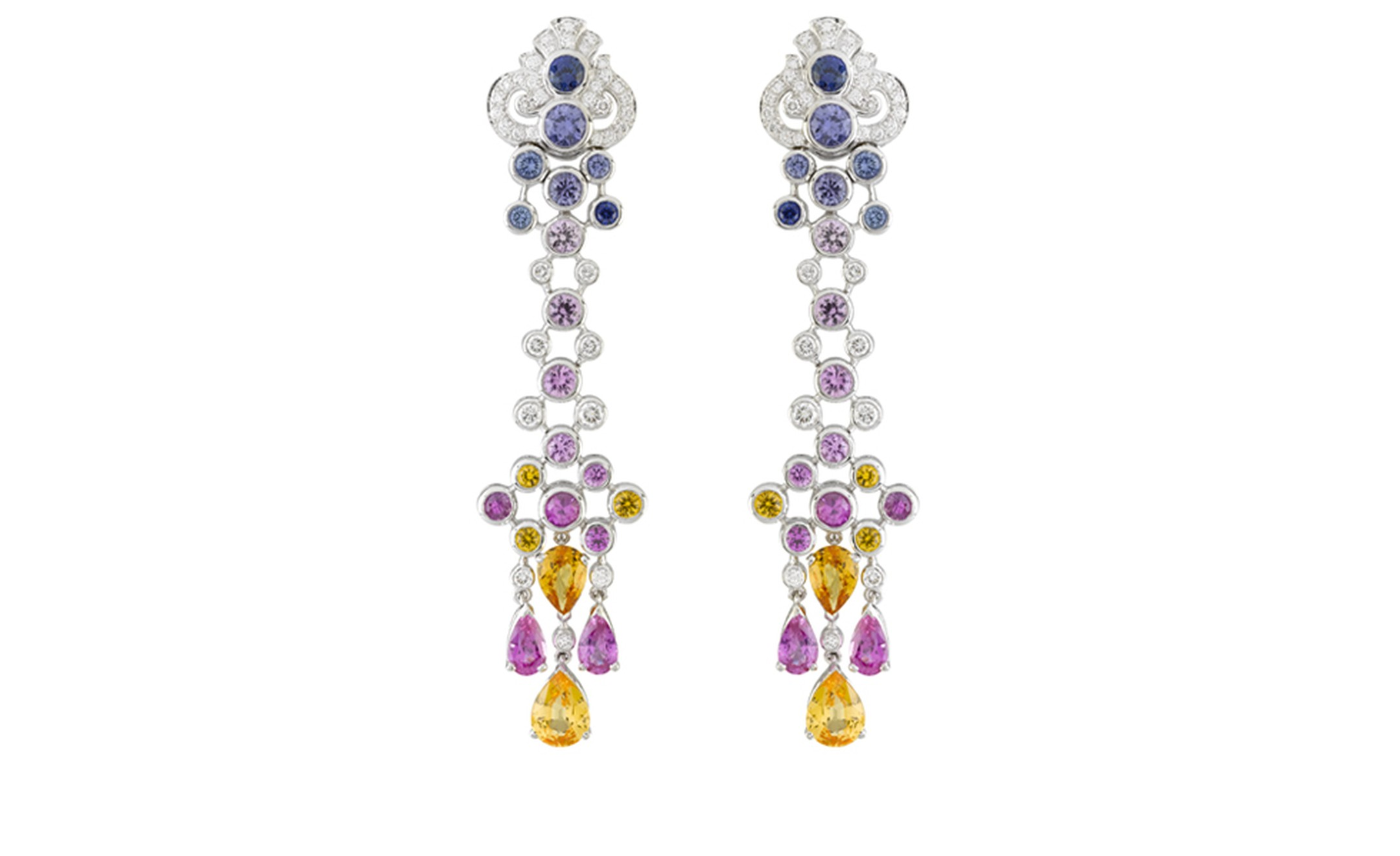 Van Cleef & Arpels, Bals de Légende, Le Bal Oriental, Faste earrings.