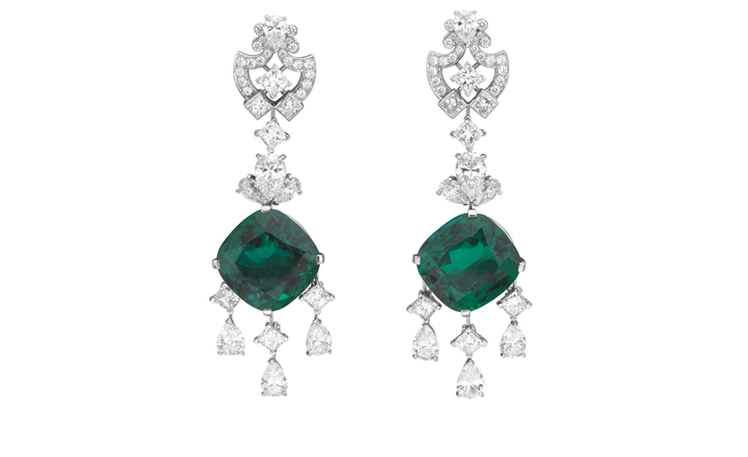 Van Cleef & Arpels, Bals de Légende, Le Bal du Palais d'Hiver, Princess Cygne earrings.