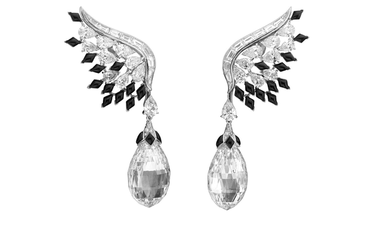 Van Cleef & Arpels, Bals de Légende, Le Bal Black and White, Black and White coloured earrings.