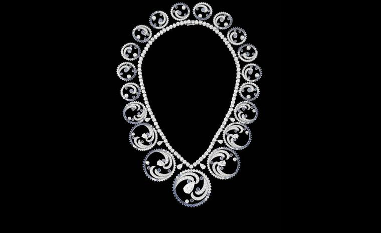 The Van Cleef & Arpels Ocean necklace can be worn like this or transformed into a more regal tiara.