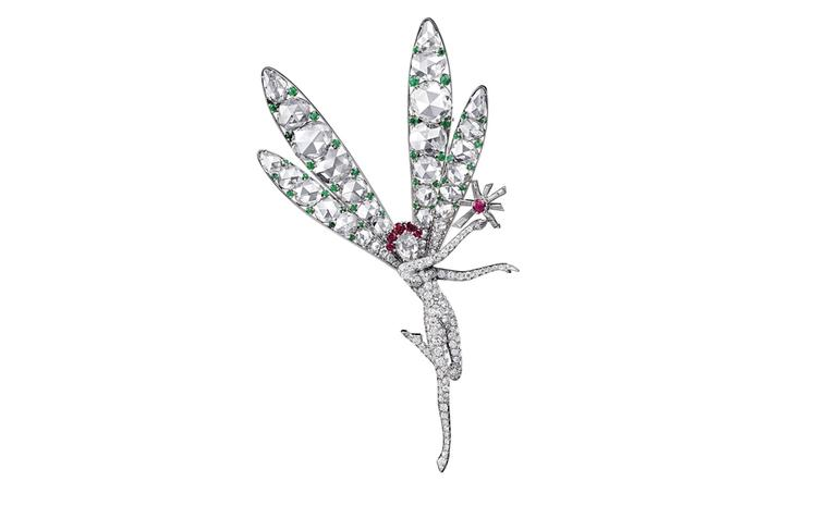 Van Cleef & Arpels The Spirit of Beauty fairy clip was bought by Barbara Hutton at Van Cleef & Arpels' Beverley Hills boutique in the 1940s. Platinum, rubies, emeralds & diamonds, 1944.