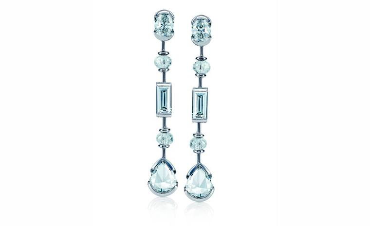 DE BEERS, Swan Lake Earrings White Diamonds and White Gold. POA