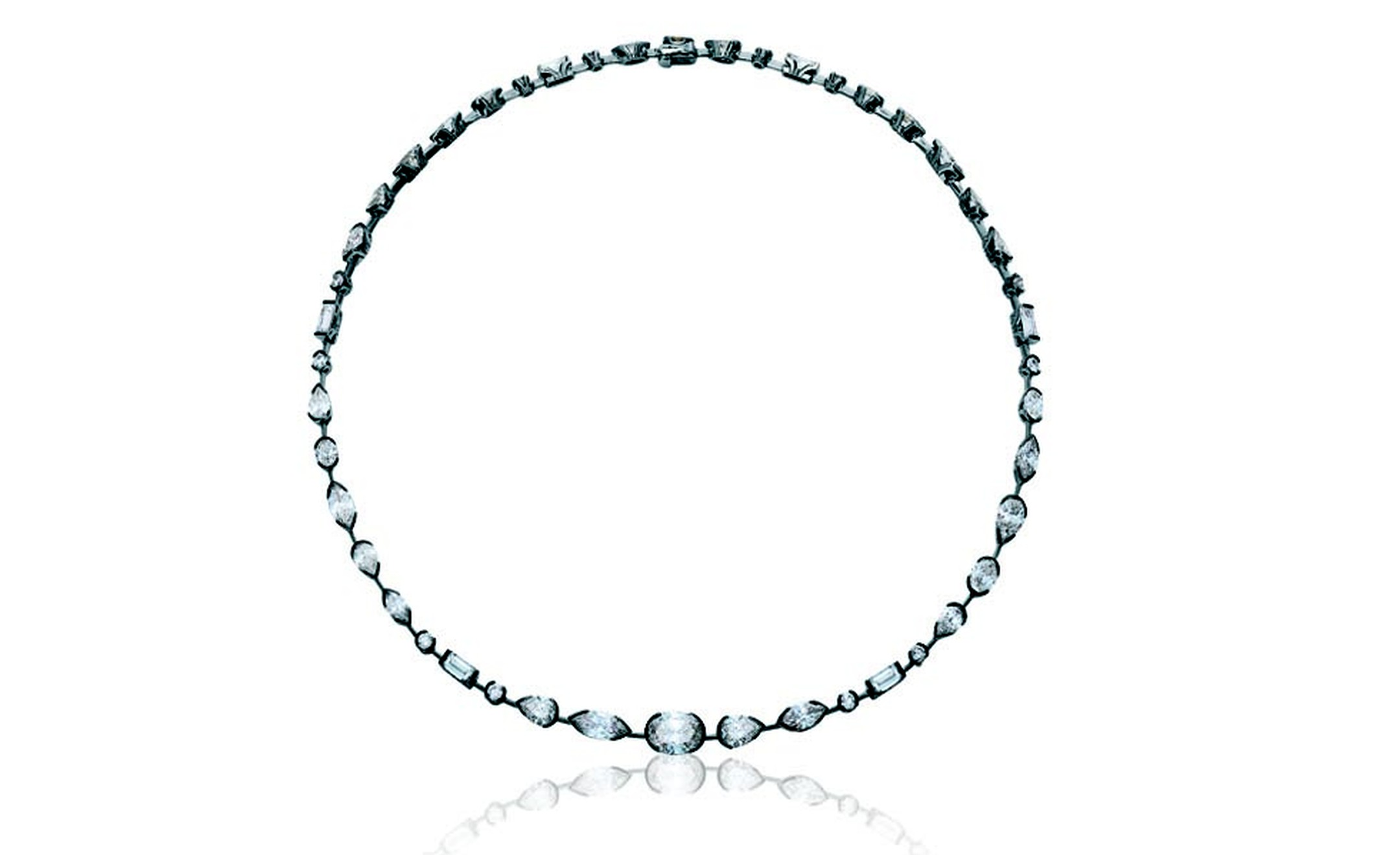 DE BEERS, Swan Lake Necklace White Gold and Diamonds. POA