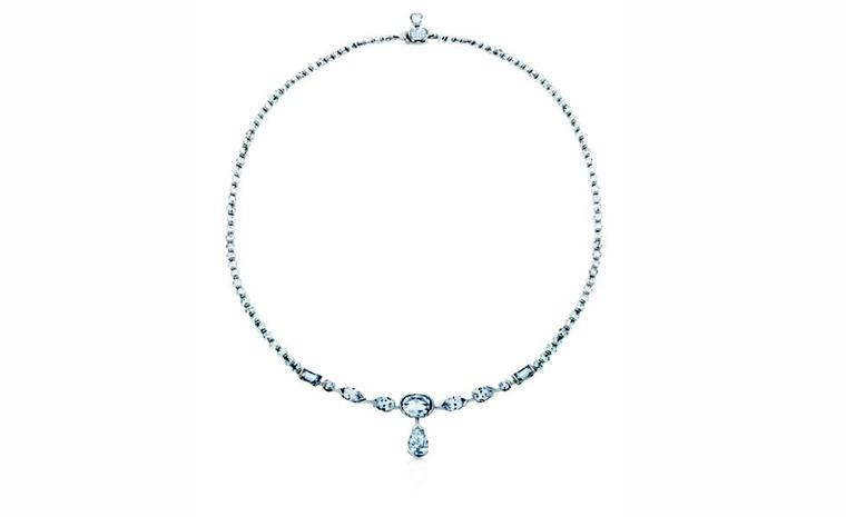DE BEERS, Swan Lake Necklace White Diamonds and White Gold. POA