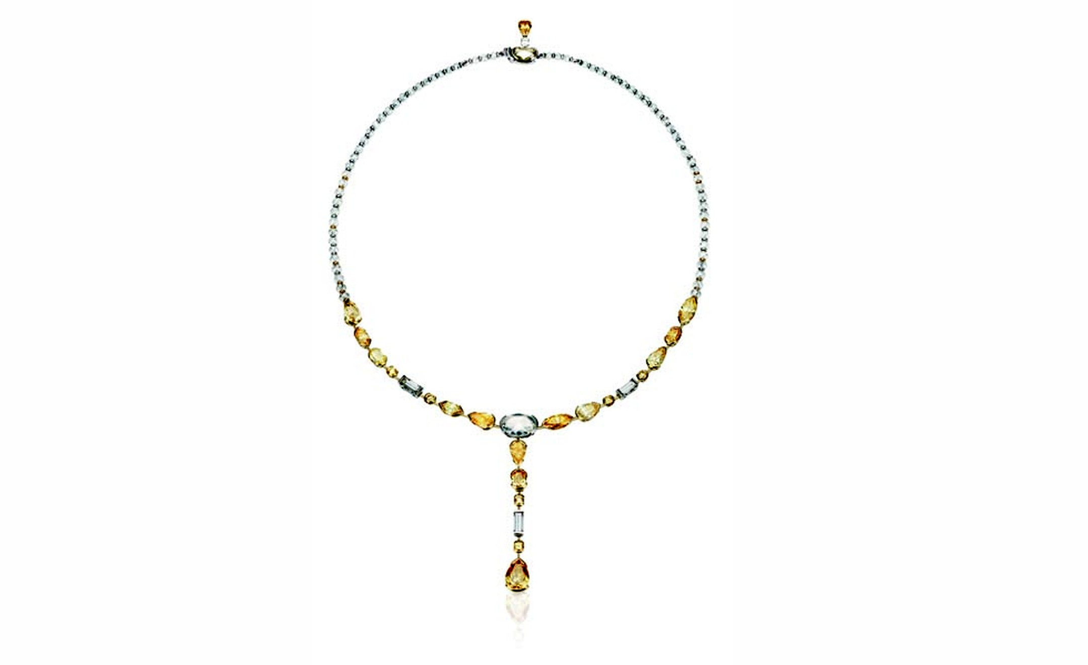 DE BEERS, Swan Lake Necklace Yellow and White Diamonds. POA