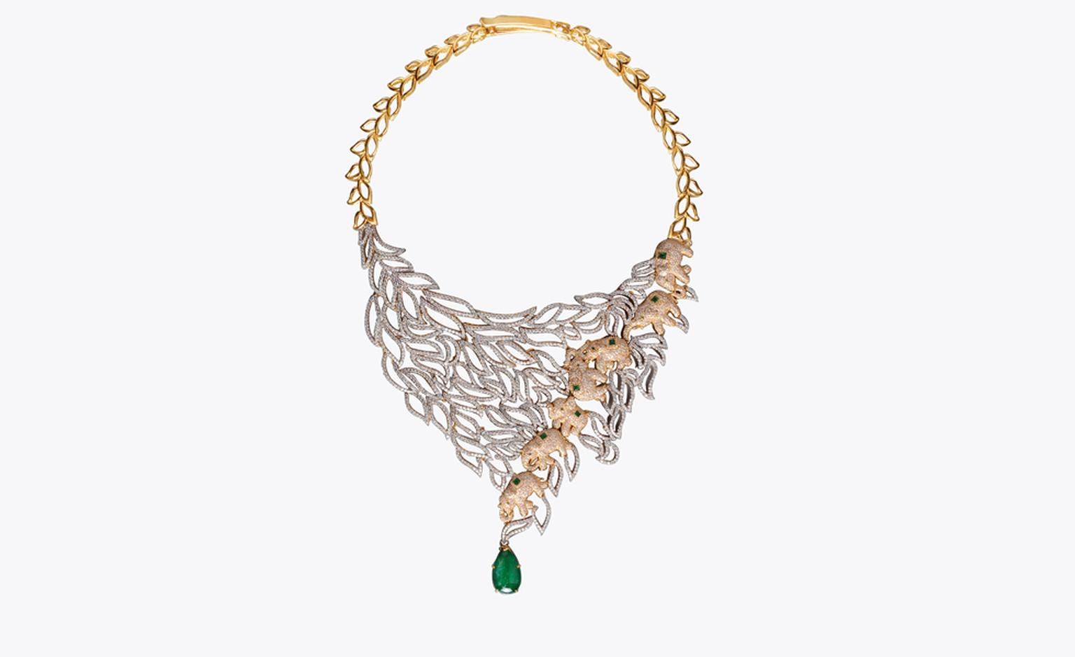 MEENA JEWELLERS ZAMBIAN EMERALD NECKLACE