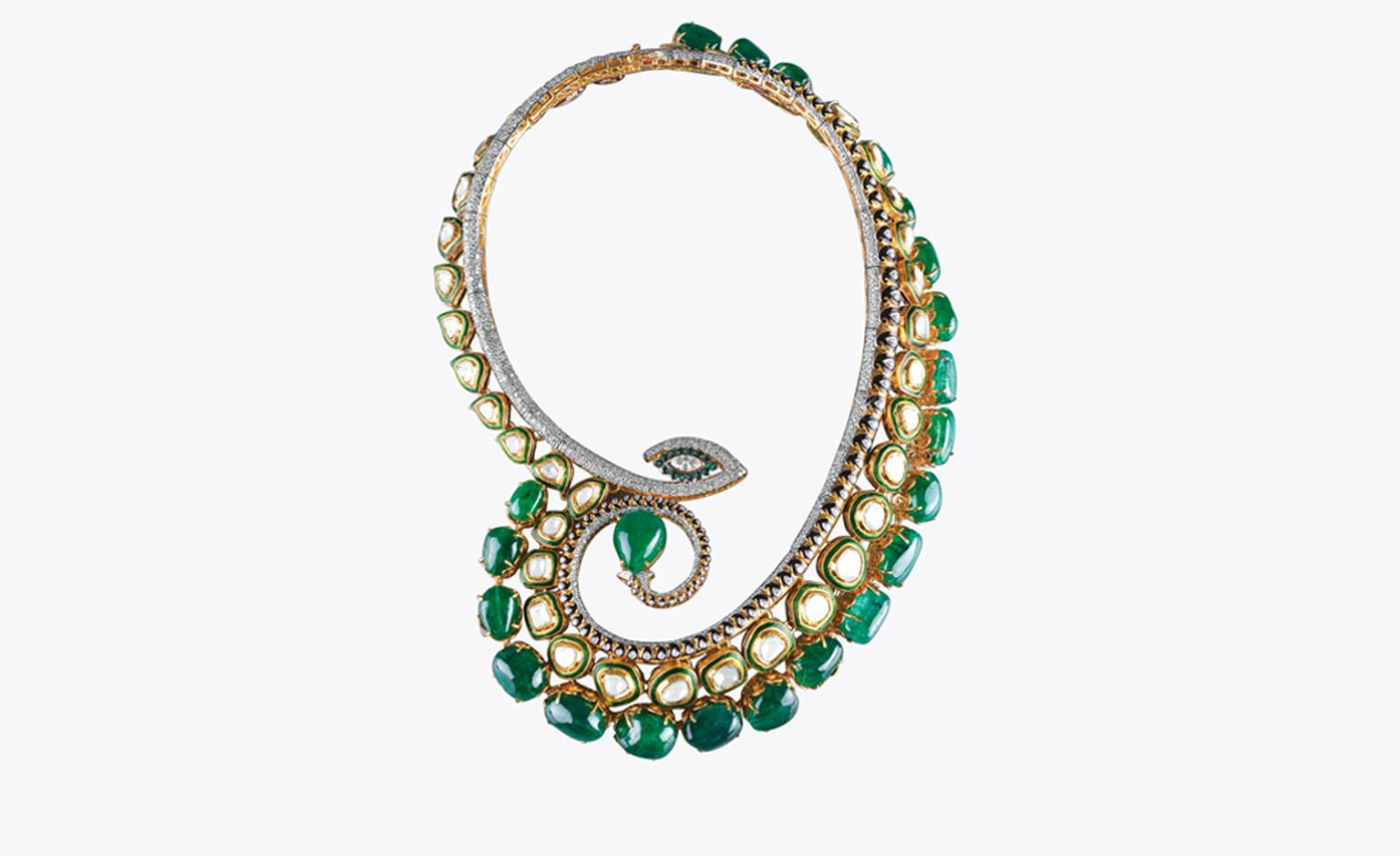 SAWANSUKHA JEWELLERS  ZAMBIAN EMERALD NECKLACE