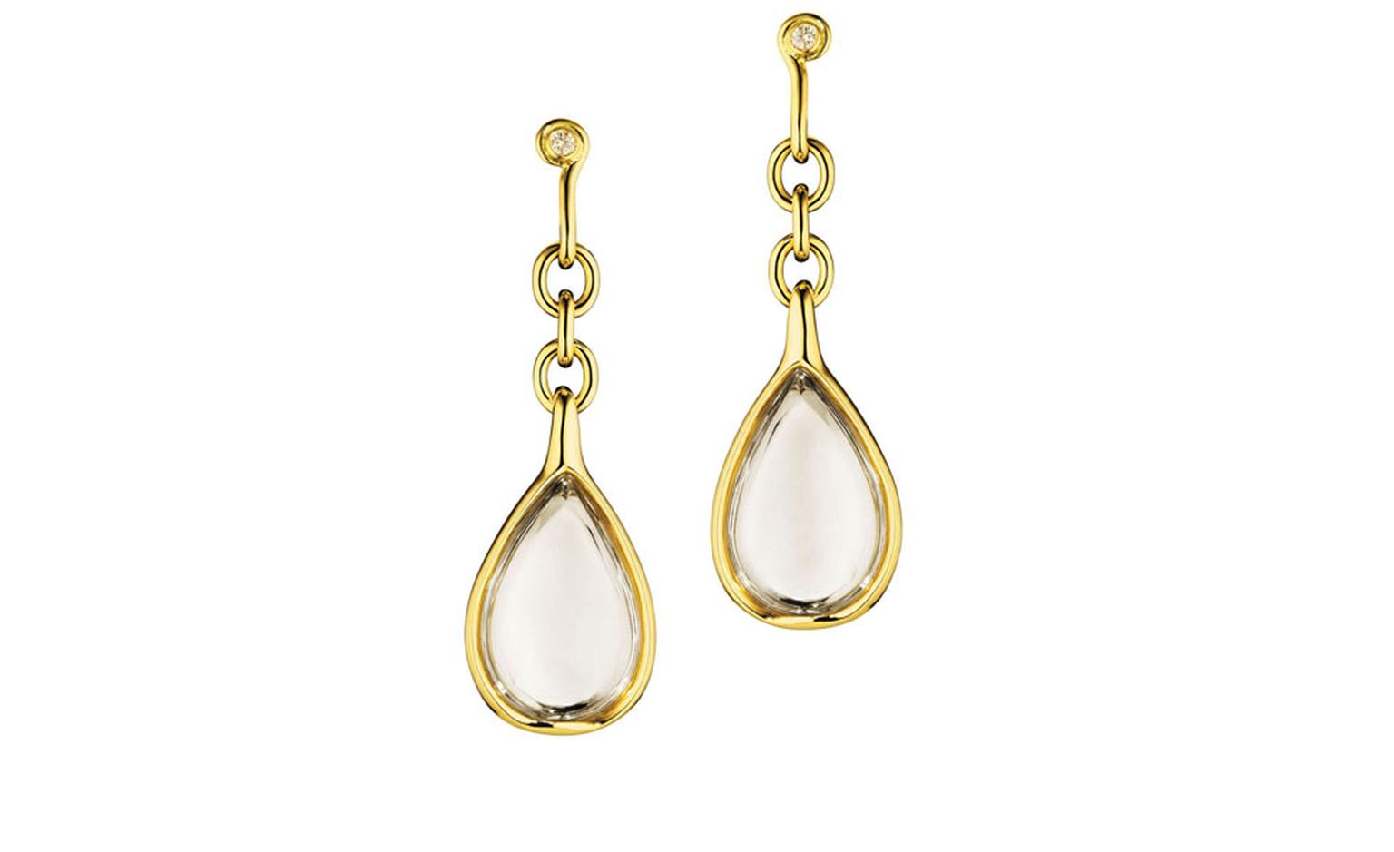 Diane von Furstenberg by H Stern. Sutras big Earrings in yellow gold, rock crytals and diamonds. £6000