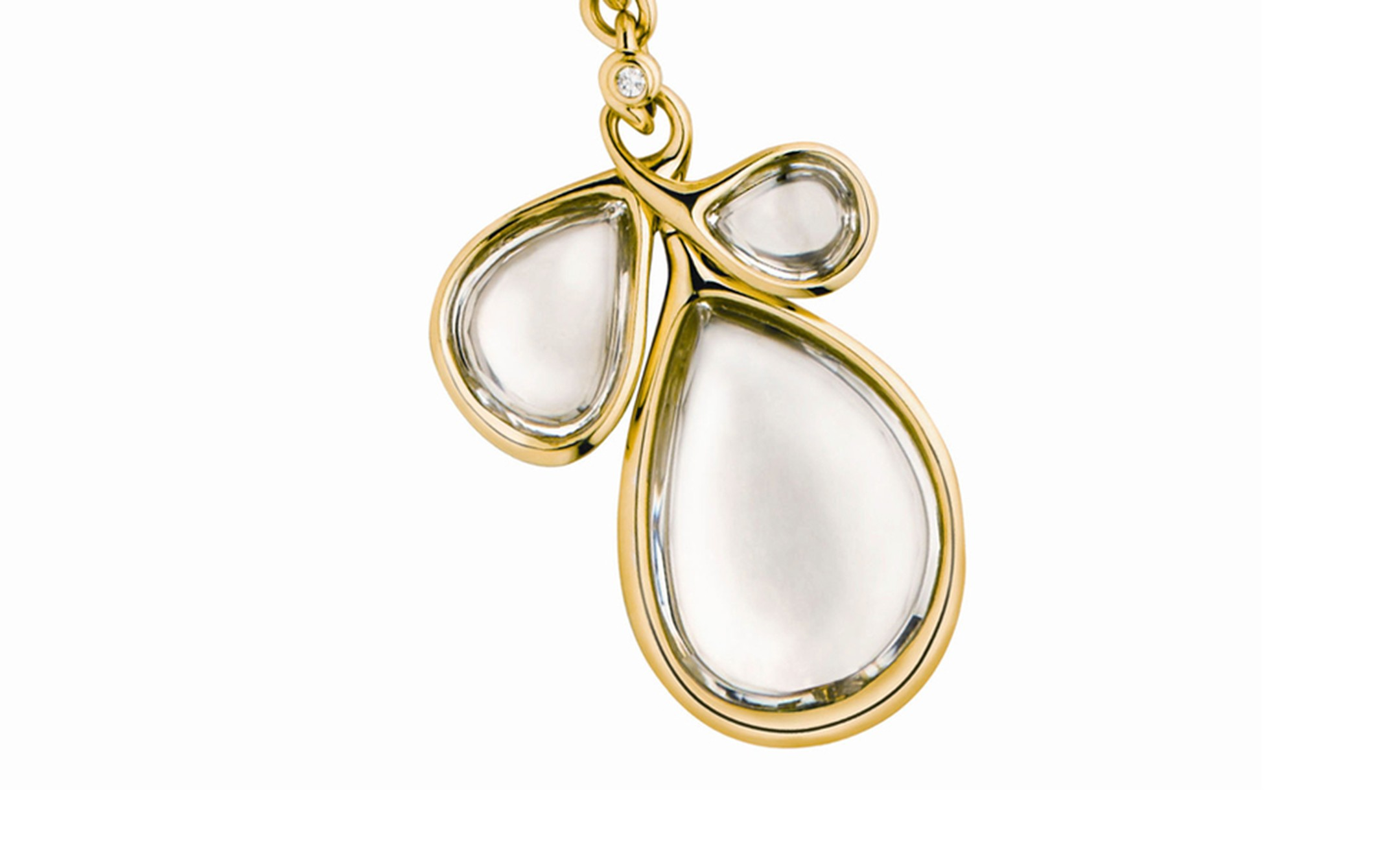 Diane von Furstenberg by H Stern. Sutras bold Pendant in yellow gold, rock crystal and a diamond. Price from £10,000
