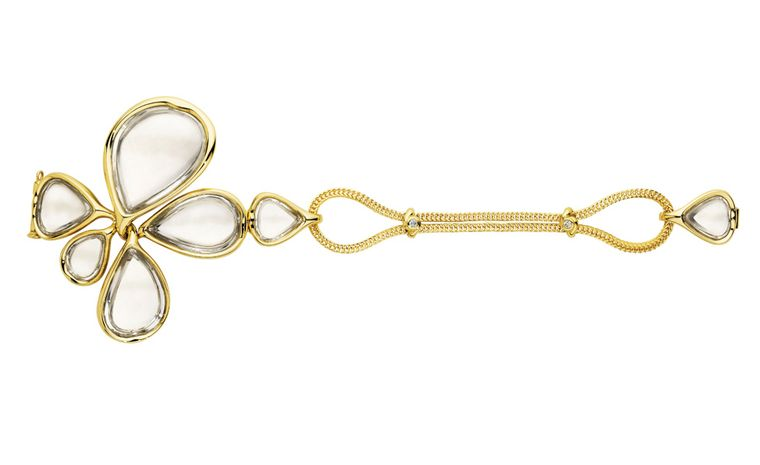 Diane von Furstenberg by H Stern. Sutras adjustable bracelet in yellow gold and rock crystal. Price from £15,000