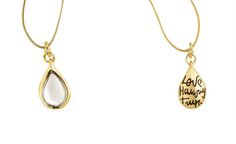 Diane von Furstenberg by H Stern. Sutras Pendant in yellow gold and rock crystal and a diamond. Price from £3600