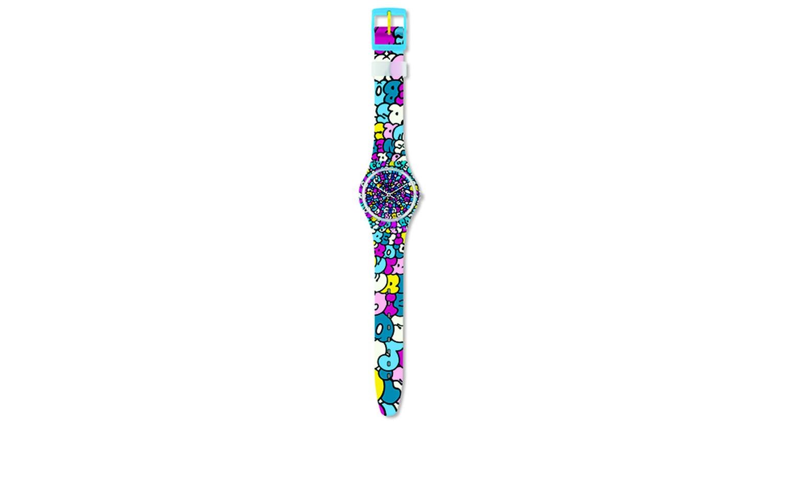SWATCH AND KIDROBOT. Swatch, Love Song. Artist: Tilt. Price from £44.50