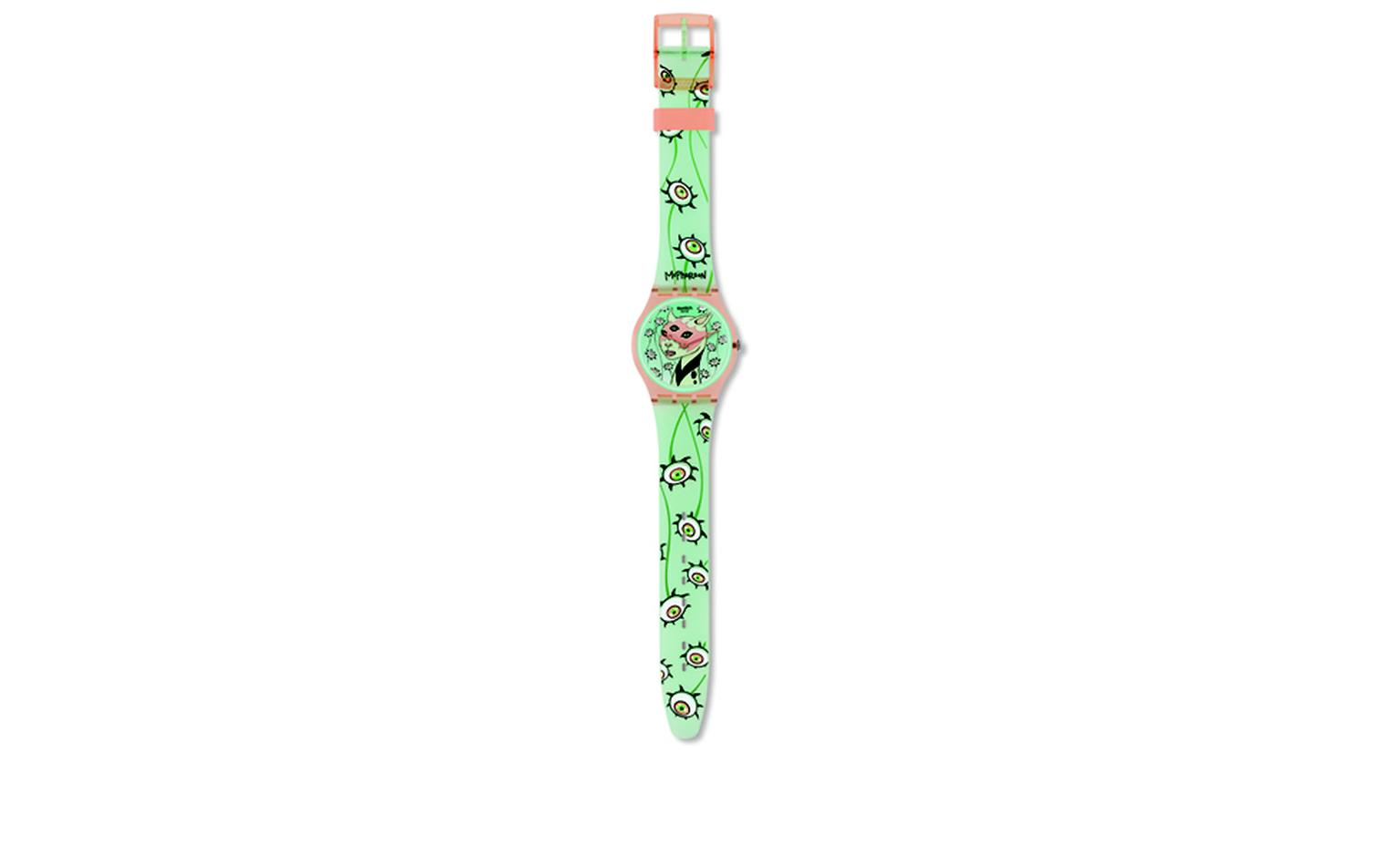 SWATCH AND KIDROBOT. Swatch, The Eyes are watching. Artist, Tara McPherson. Price from £44.50