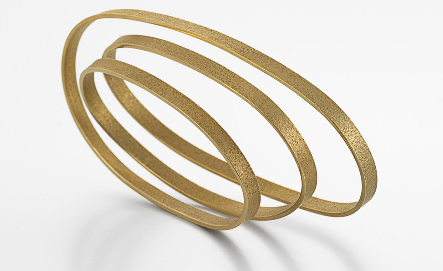 Pure collection arm piece by Ute Decker. Made from the world's first certified Fairtrade 18 ct gold. Price from £9,200