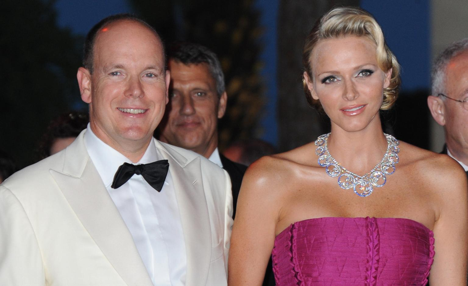 Van Cleef Arpels necklace Royal Gift from the Prince to the Princess. Red Cross Ball 2011 in Monaco