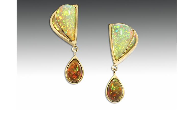 Ornella Iannuzzi: Sweet Honey Earrings. Made with a total of 11 cts hand-carved opals, set in 18k gold. Unique piece. SOLD