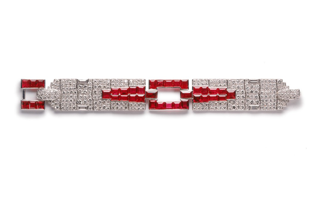 1929 Cartier New York diamond bracelet made as a special commission and now worn by Madonna at the Venice Film Festival and on the set of W.E. by actress Andrea Riseborough playing Wallis Simpson.