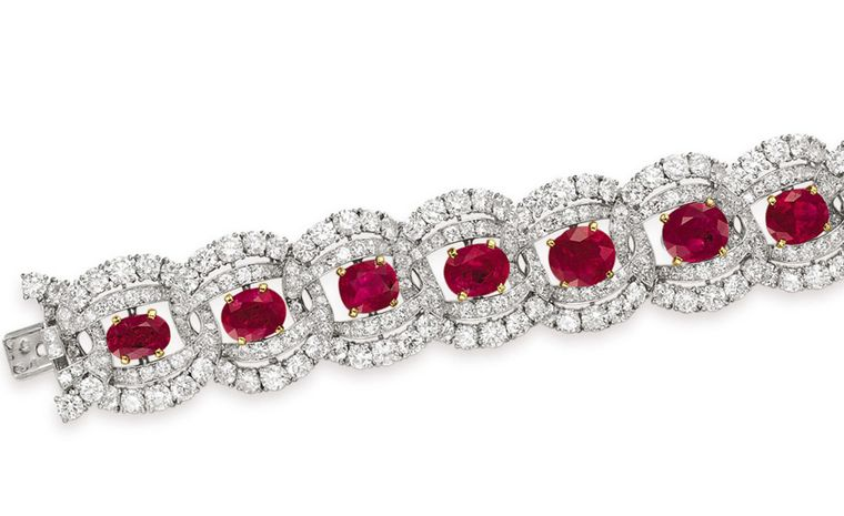 The Cartier Ruby Suite Bracelet Estimate: $150,000 – 200,000. Without a mirror at hand to see how her new jewels looked, she studied her reflection in the pool instead.