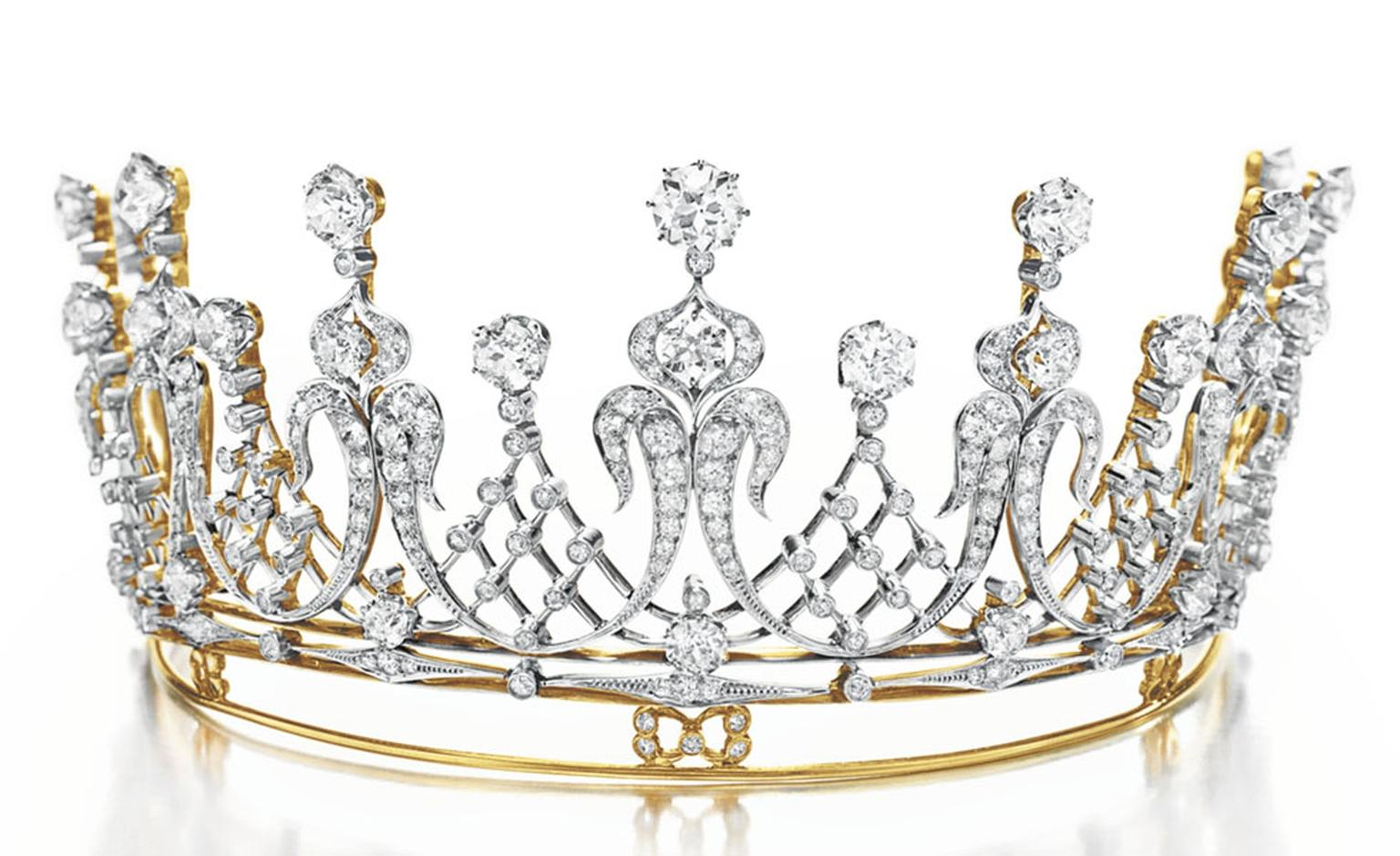 "The Mike Todd Diamond Tiara. An Antique Diamond Tiara, circa 1880 Gift from Mike Todd, 1957. He presented her with this antique diamond tiara, saying, ""You are my queen."" She wore it to the Academy Awards in Los Angeles in 1957, where Todd's fil..."