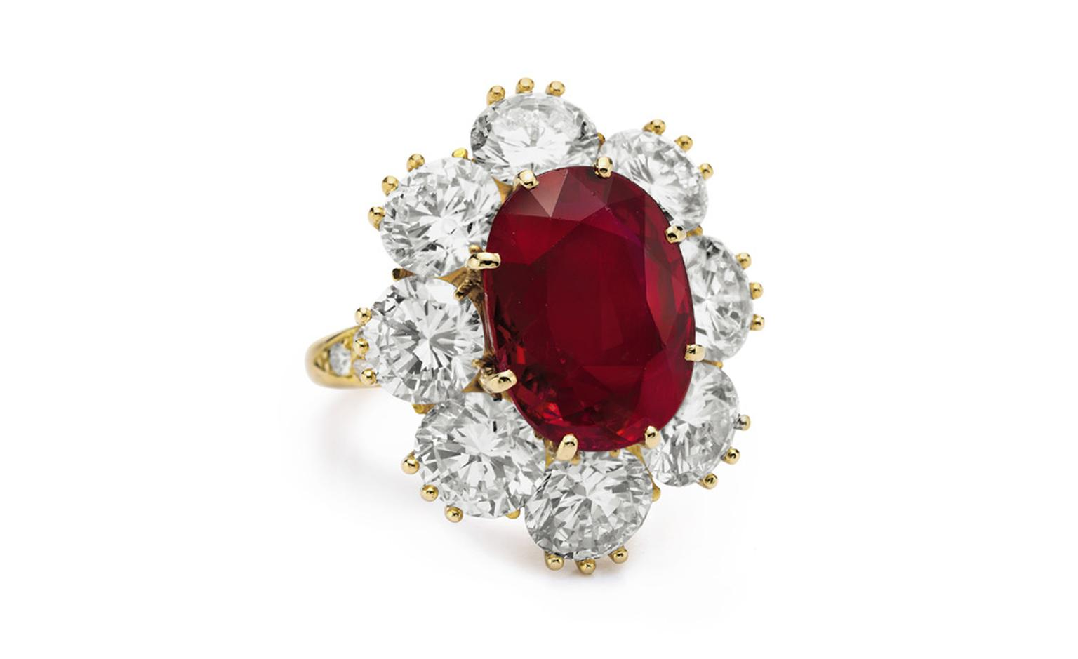 A Ruby and Diamond Ring, of 8.24 carats By Van Cleef & Arpels Gift from Richard Burton, Christmas 1968 Estimate: $1,000,000 – 1,500,000. Early in their marriage, Richard Burton promised Elizabeth Taylor he would buy her a special ruby, with perf...