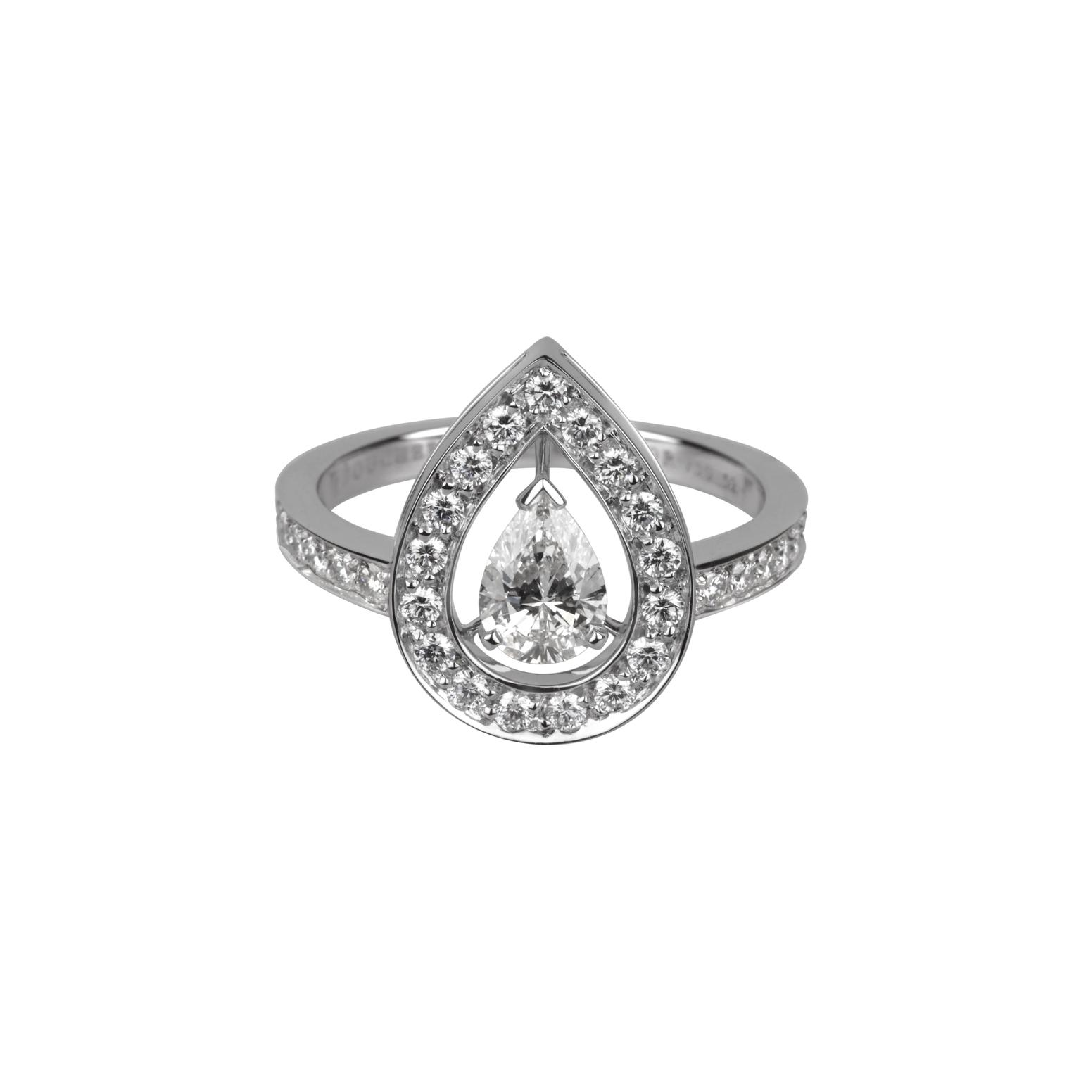 Boucheron Ava Pear diamond ring