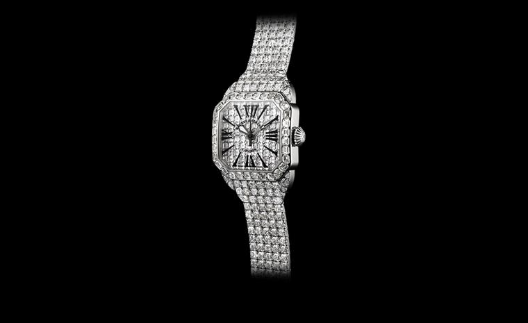 Backes & Strauss. The Royal Berkeley 40, from The Royal Collection, a bespoke masterpiece, Limited Edition. Diamonds hand polished, custom cut and precision set in white gold. Price from £1,114,290.00.