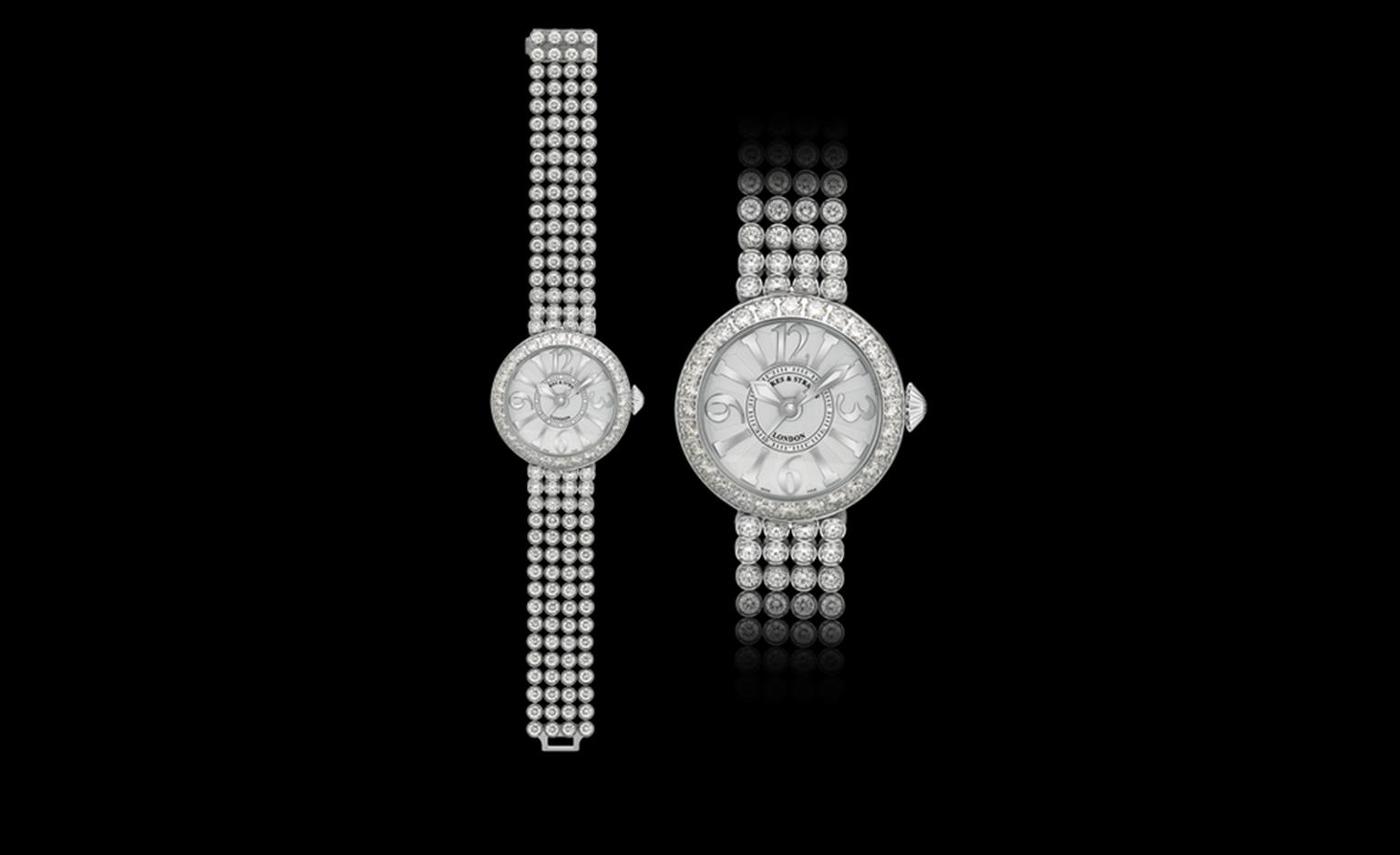 Backes & Strauss. The Piccadilly Princess Classic 37 from The Royal Collection. 107 ideal cut brilliant diamonds weighing, including a bracelet of ideal cut diamonds. Price from £154,290.00.