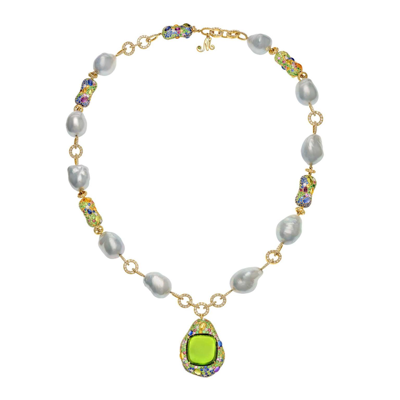 Top Baroque pearl and peridot pendant necklace | Margot McKinney | The  SA11
