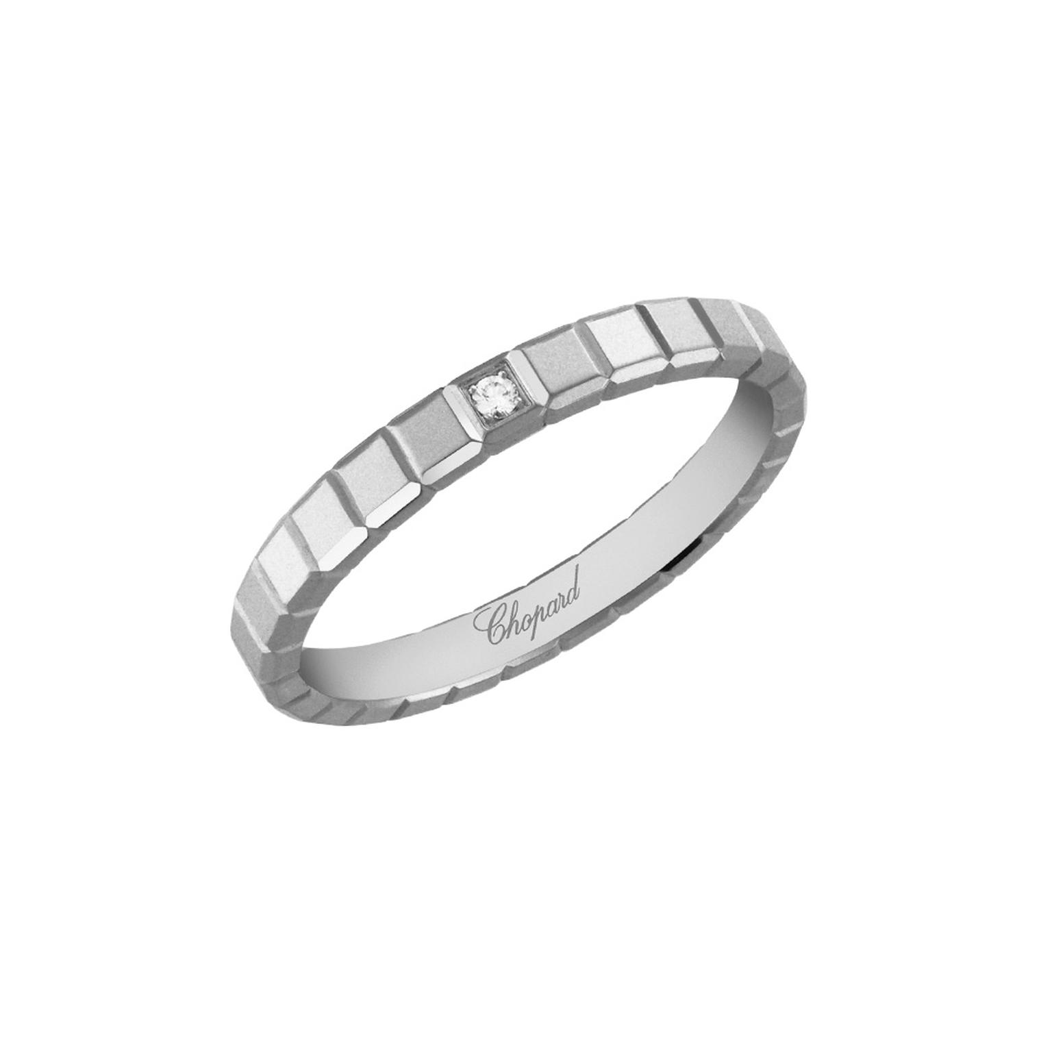 Ice Cube White Gold And Diamond Ring