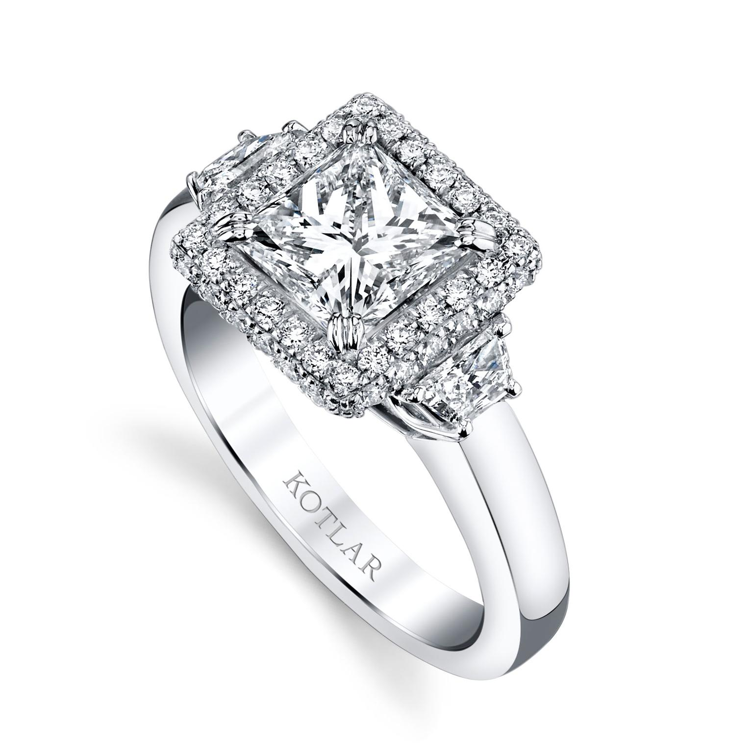 the romantic appeal of princess cut engagement rings the