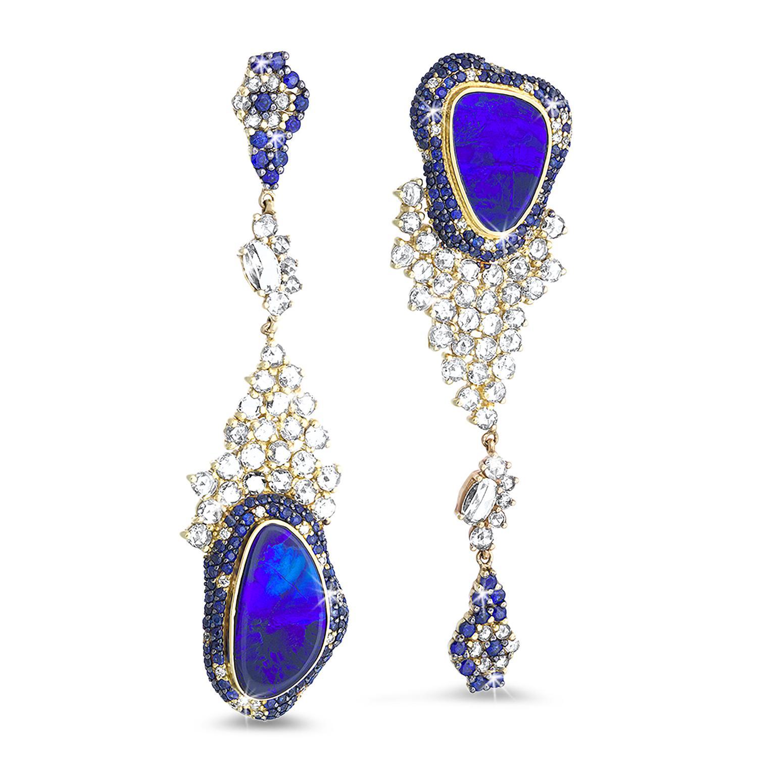 Sottosopra Black Opal Earrings