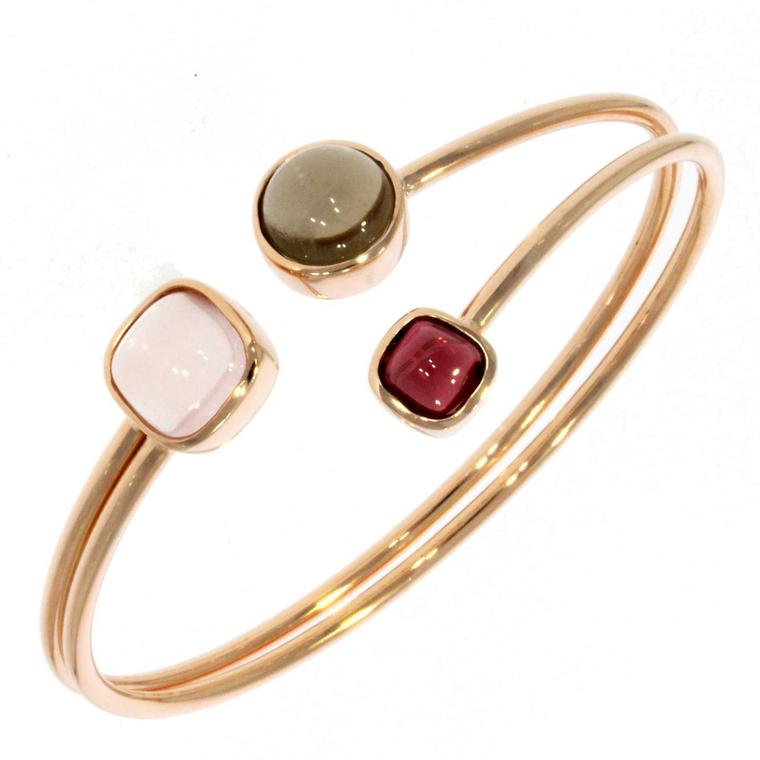 XSJ London gold and gemstone bangle