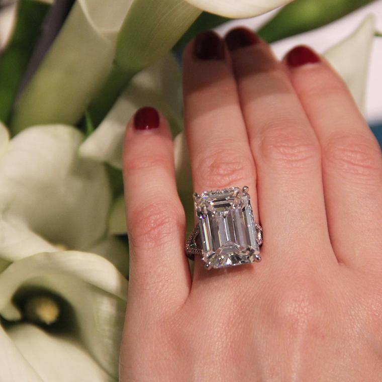 20 47 Carat Emerald Cut Diamond Arris Ring
