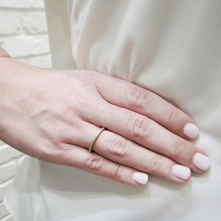 Enamel And Diamond Eternity Ring