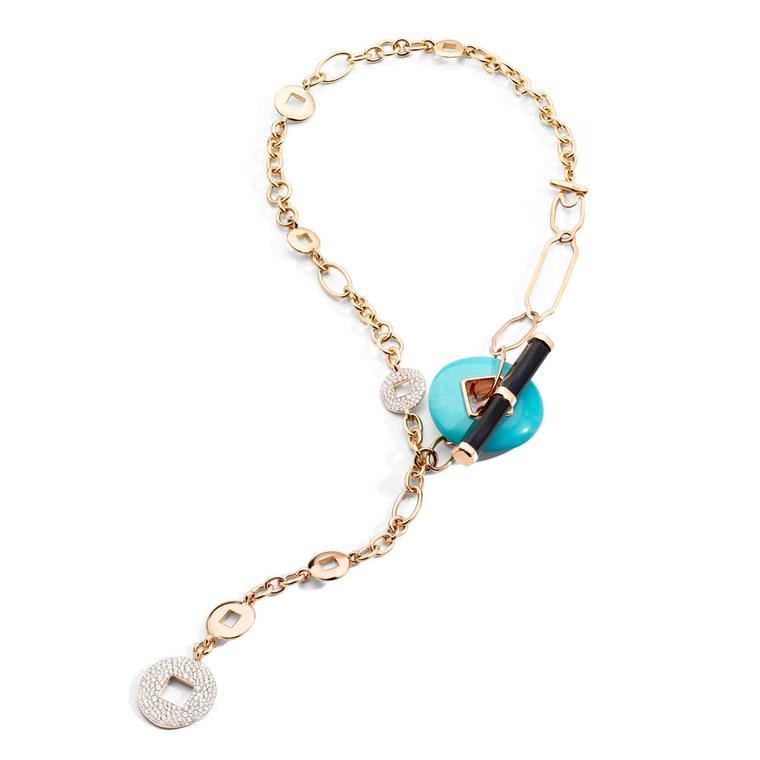 LA GIOIA di Pomellato Haiku turquoise necklace 2021
