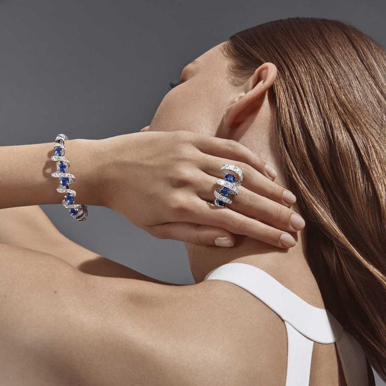 Torsade de Chaumet sapphire bracelet