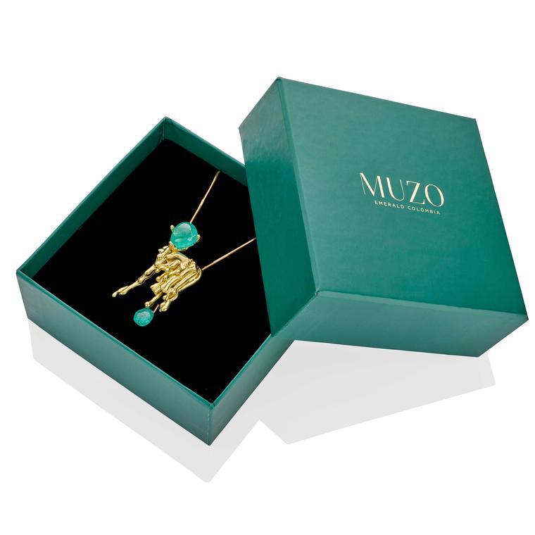 The Rock Hound Molten Muzo emerald pendant
