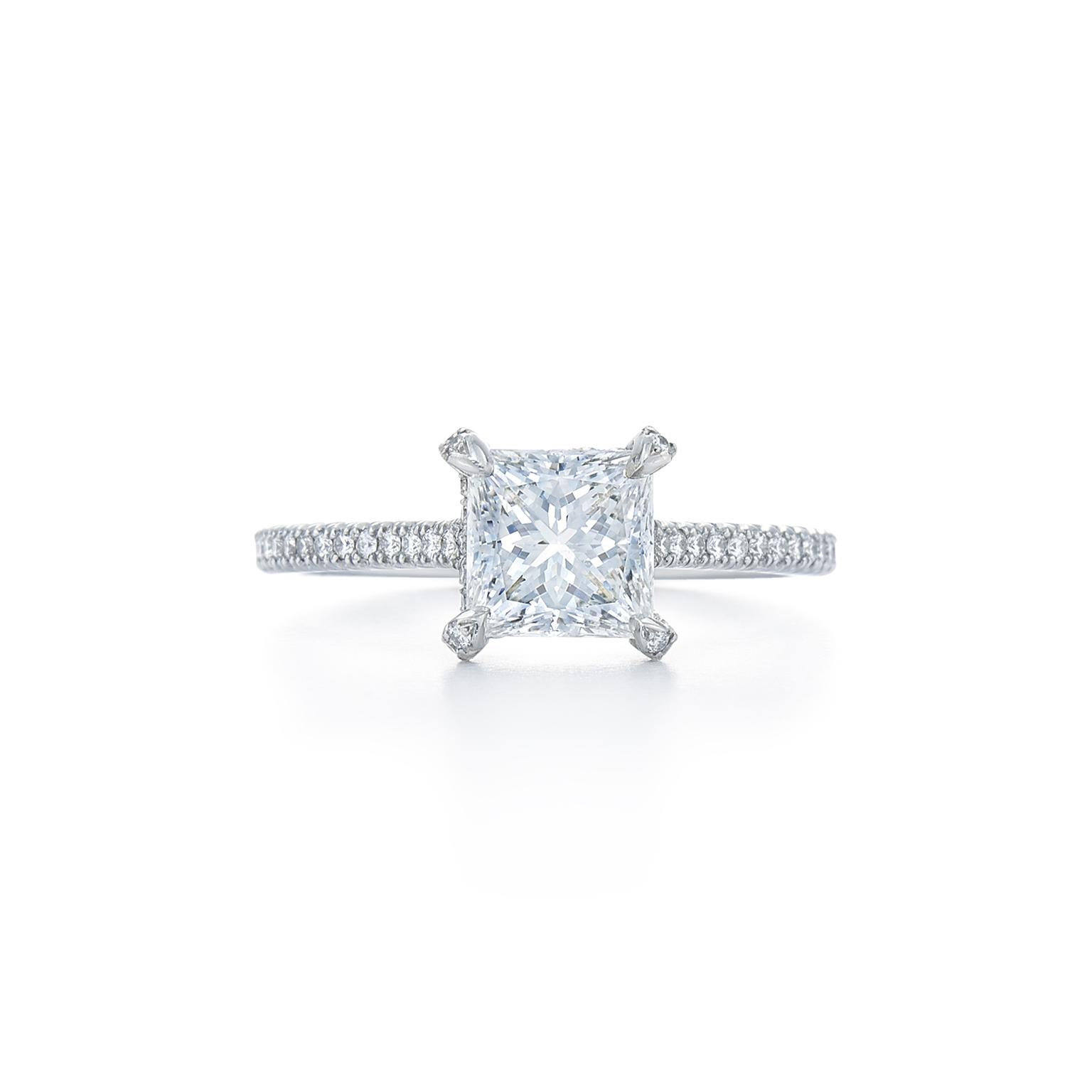 The romantic appeal of princess cut engagement rings