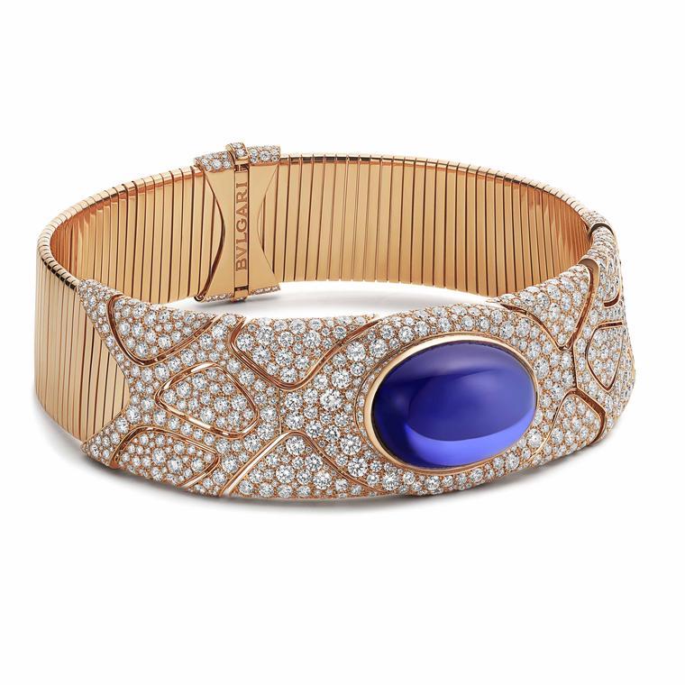 Zaha Hadid Fluid Tanzanite necklace by Bulgari