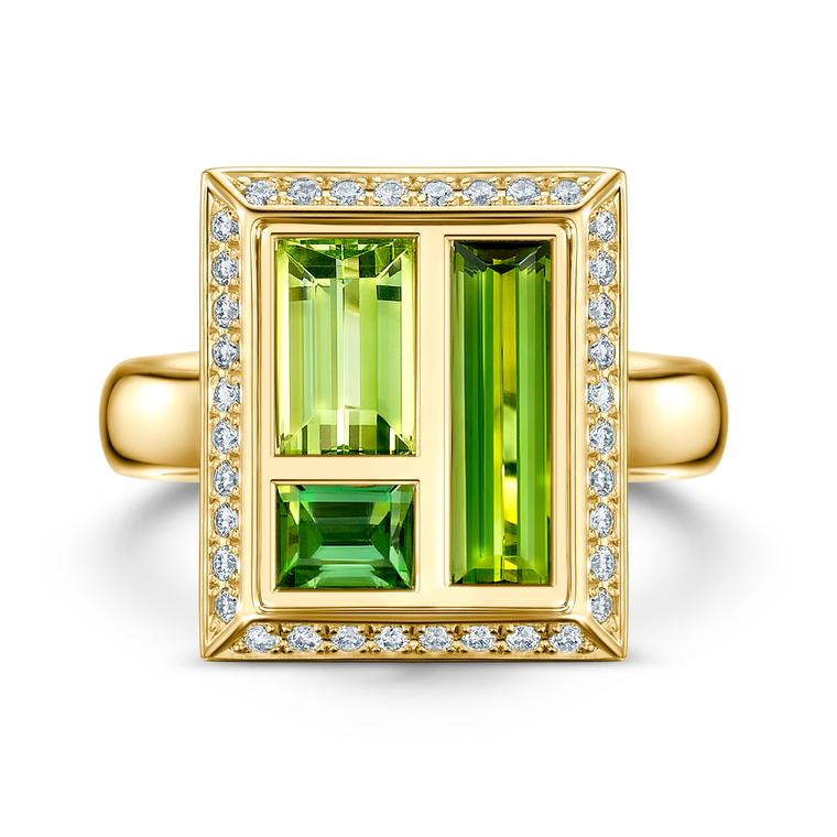 Envy green tourmaline cocktail ring