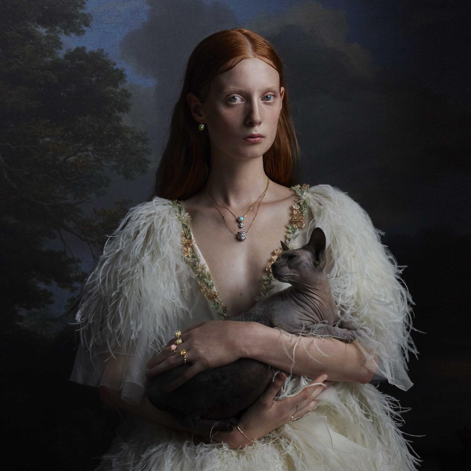 Gucci Le Marche des Merveilles jewels in portrait marabou Julia Hetta photography