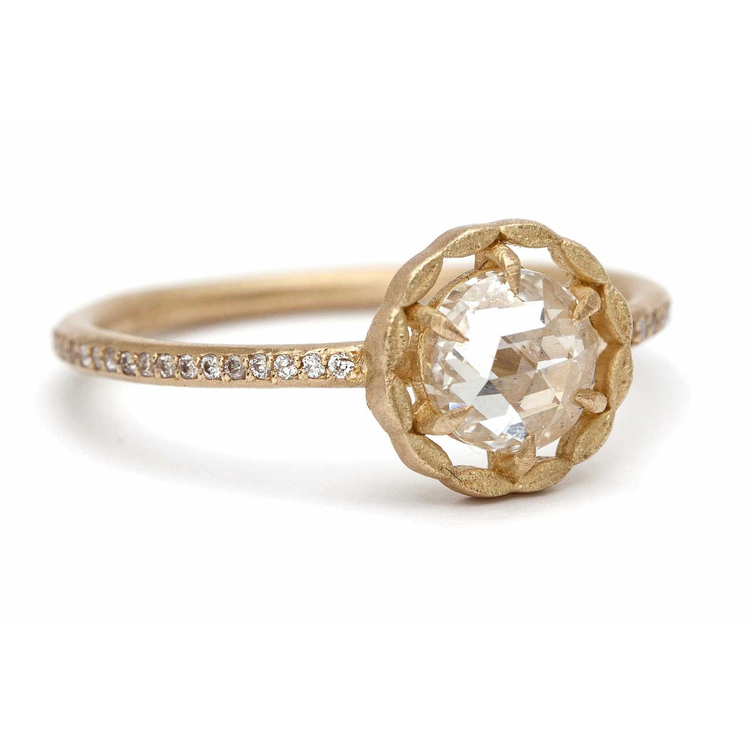 The revival of rose cut diamond engagement rings
