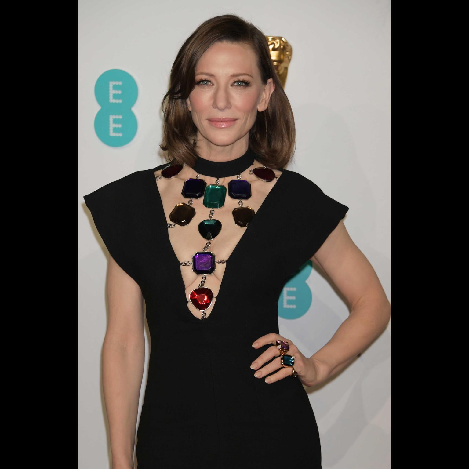 Cate Blanchett in Pomellato Ritratto rings BAFTAS 2019