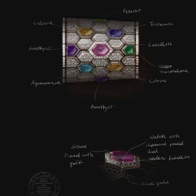 Design of the Serpenti Misteriosi Cleopatra by Bulgari