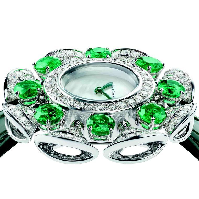 Diva's Dream Divissima White gold emerald by Bulgari