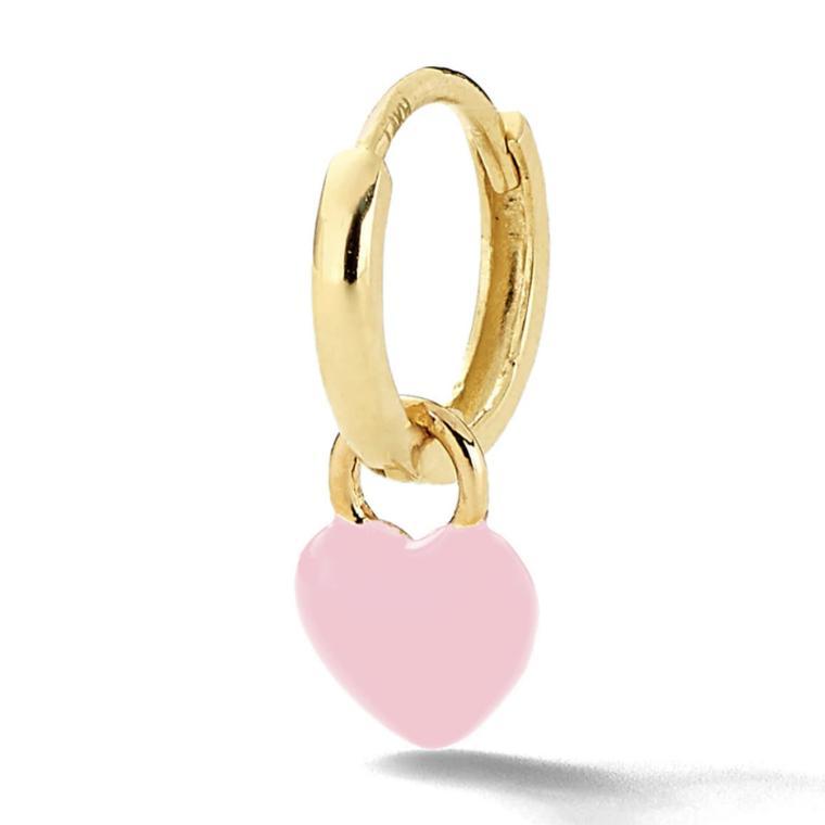 Heart enamel single earring by Alison Lou