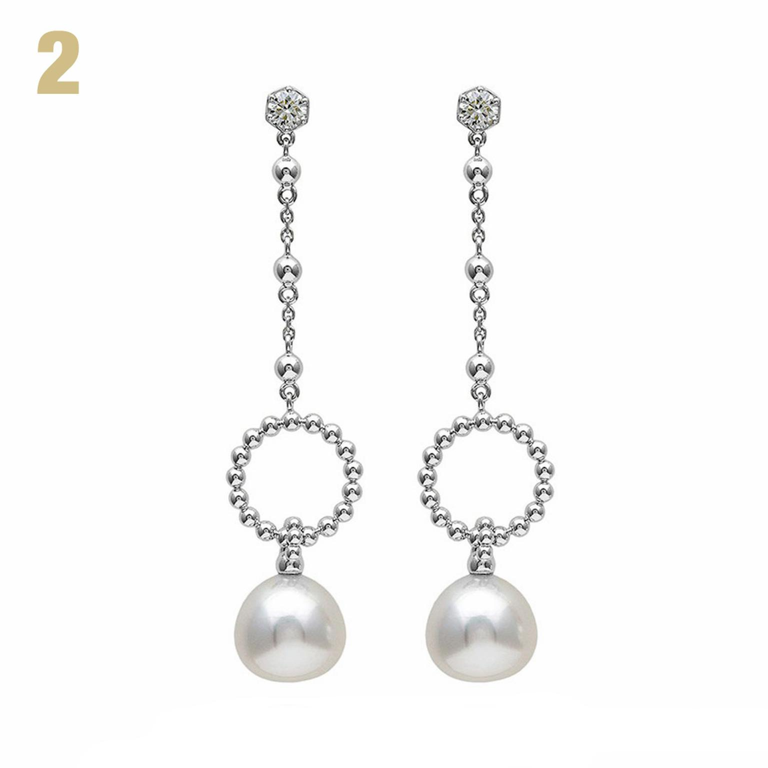 Circus pearl drop earrings with diamonds Boodles