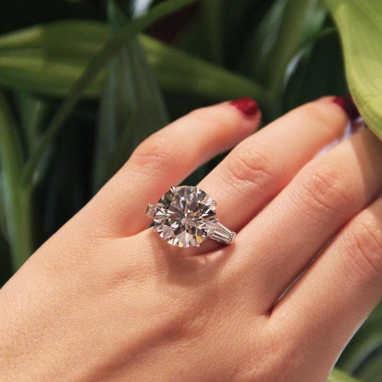 11.10-carat round brilliant diamond engagement ring