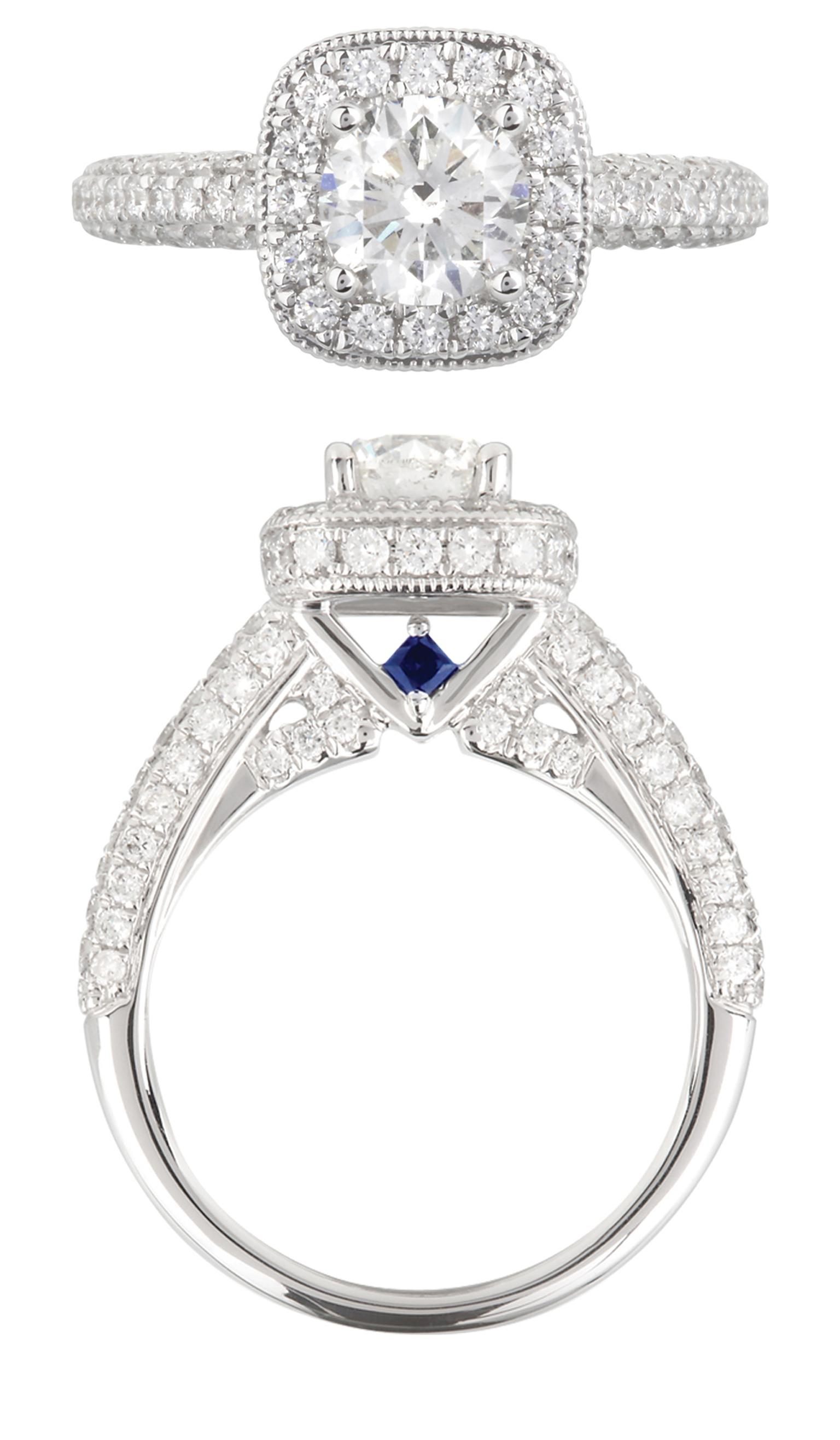 Love Diamond And Shire Engagement Ring